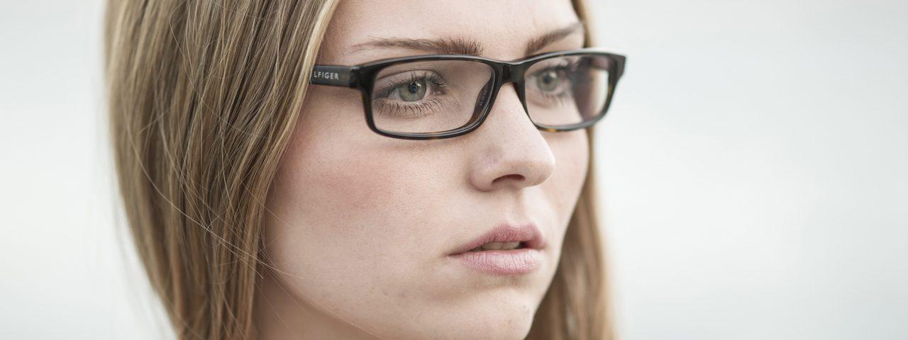 Eye doctor, girl with eyeglasses in Raleigh, NC