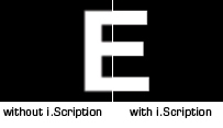 iscription letter E