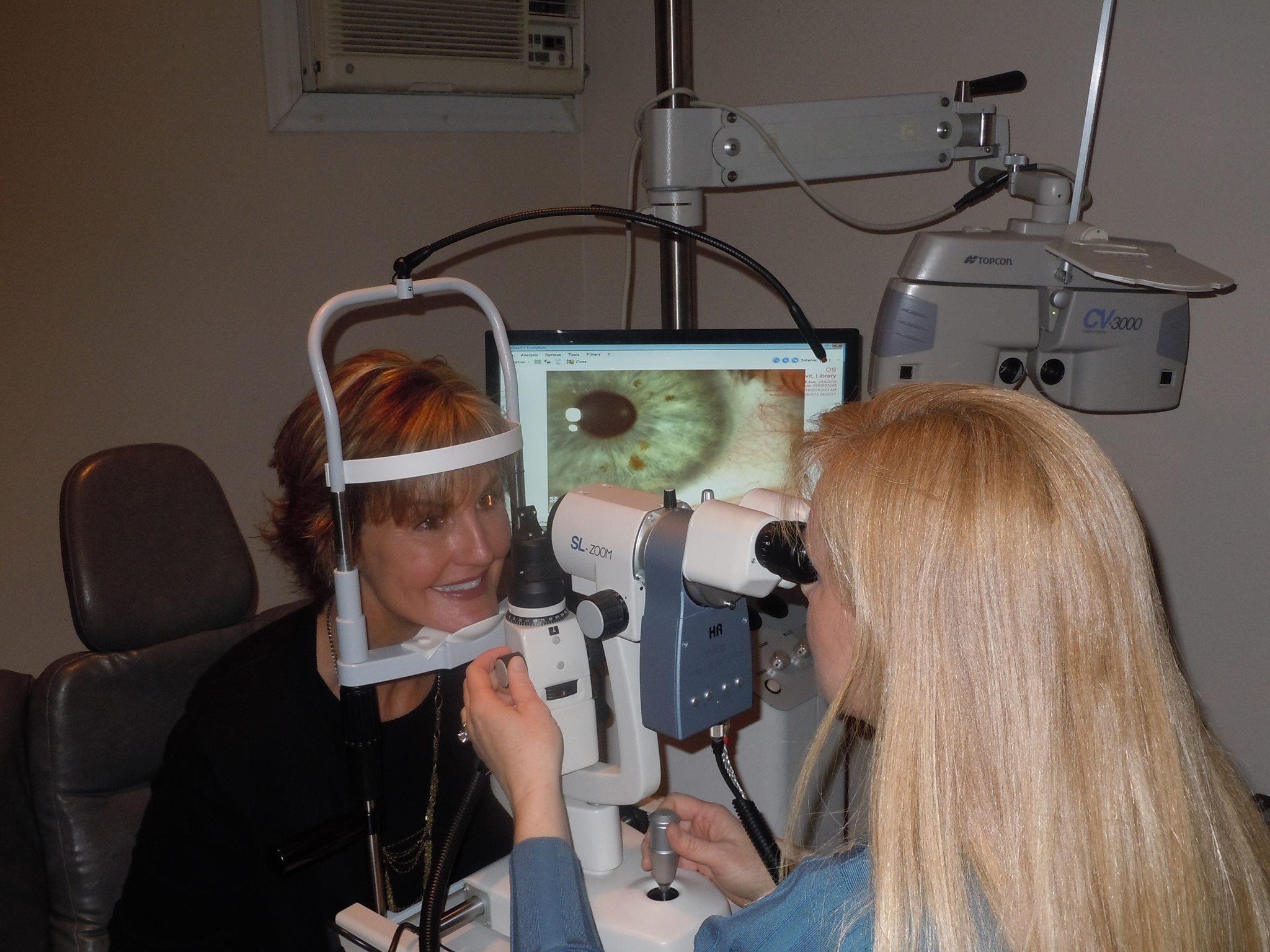 Dr. Alicia doing exam
