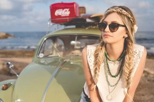 Girl Car Sunglasses Braids 1280×853