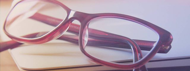 Pair of eyeglasses, with prescription lenses