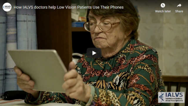 Screenshot 2019 11 07 How IALVS doctors help Low Vision Patients Use Their Phones   YouTube