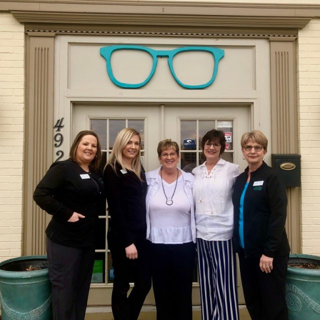 Eye Care Staff outside in front of optometry practice - Roanoke, VA