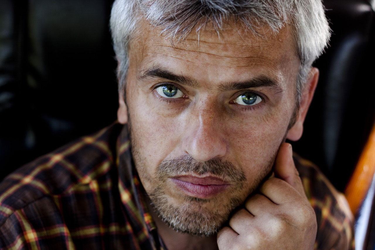 portrait of older man wearing scleral lenses