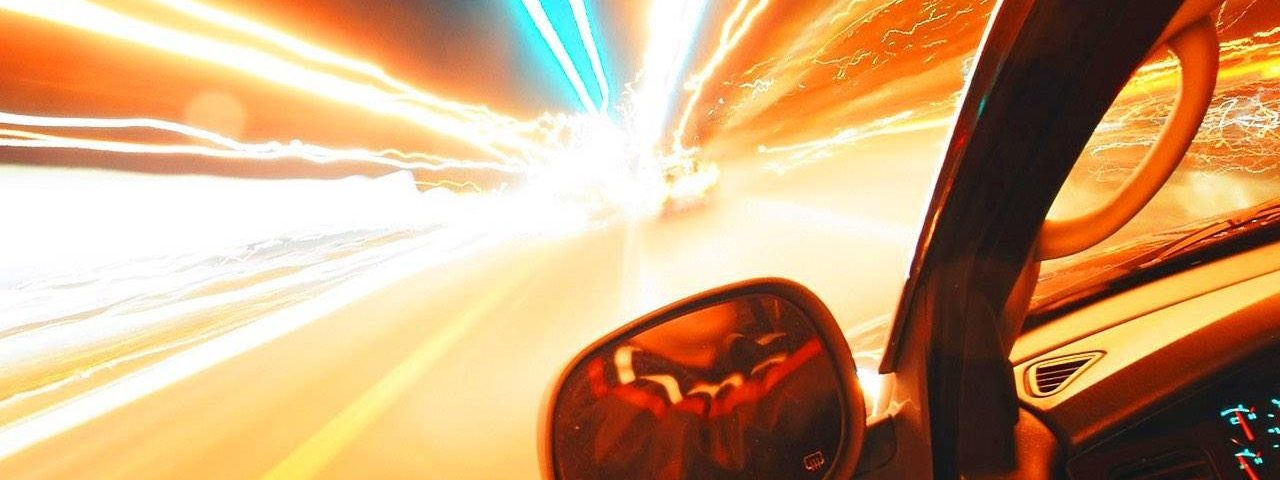 eye disease doublevision lights speed driving night 1280x480