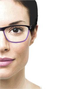Model wearing Light Tec eyeglasses