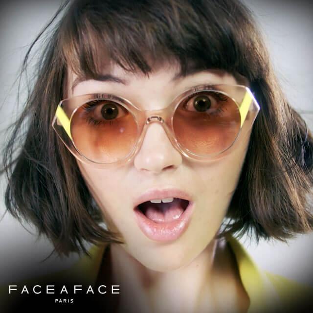 FaceaFace 20 woman surprised studio close sunglasses sun 640 logo drk