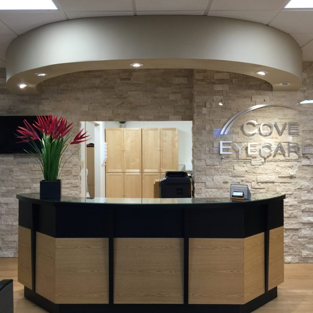 front office view cove eyecare