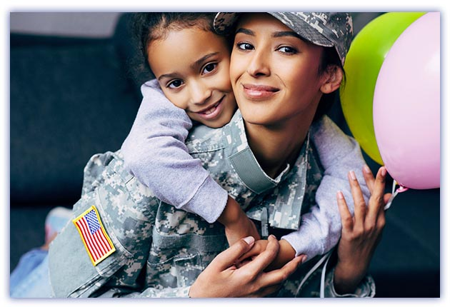 Rows Rectangles Military Mom