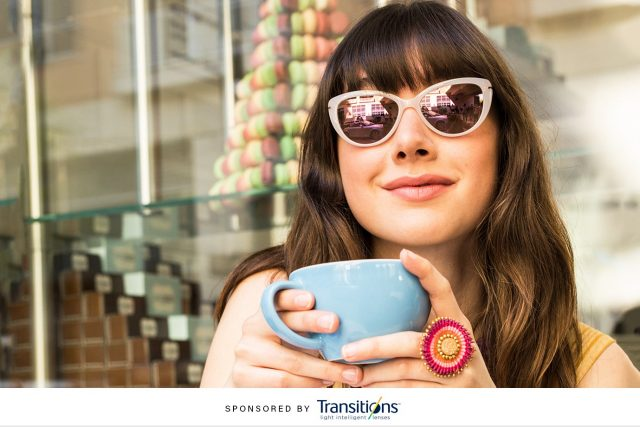 woman wearing transition lenses in Copperas Cove, TX