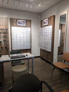 Our Selection of Frames in our New Castle Optometry Office
