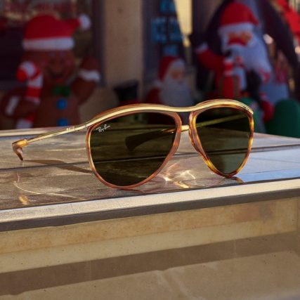ray ban gold rimmed sunglasses