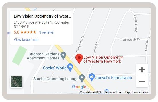 Low Vision Optometry Map