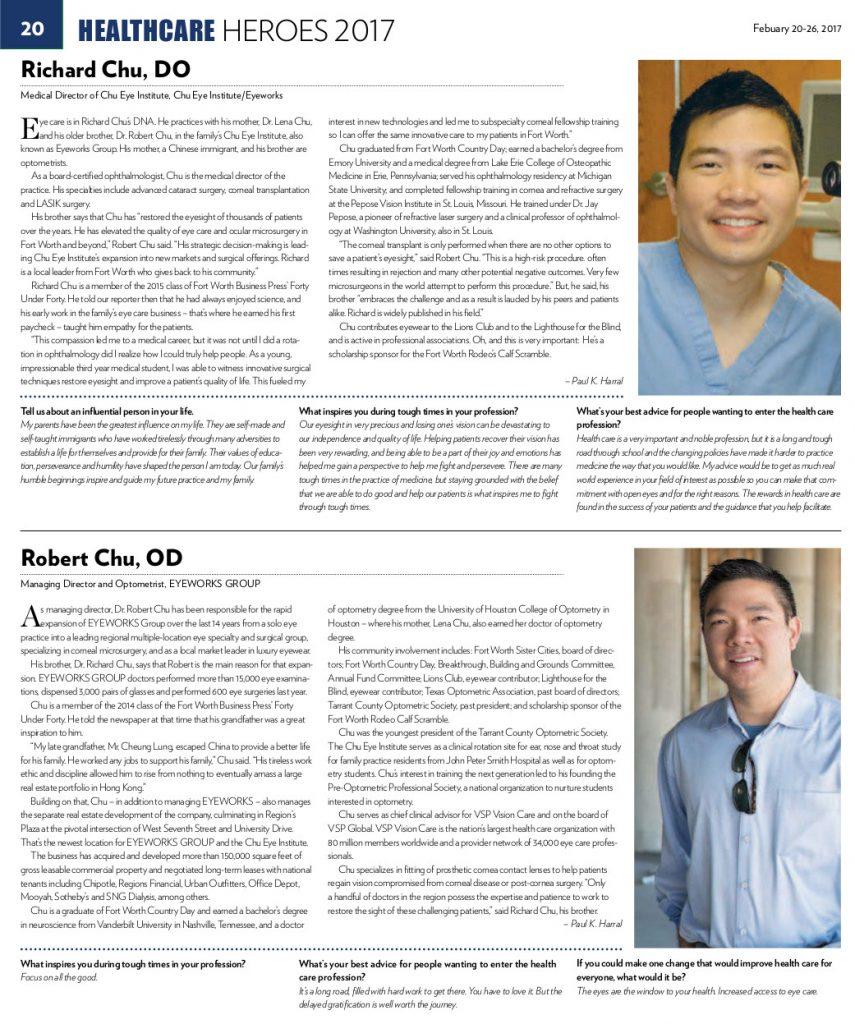 healthcare heroes award eyeworks