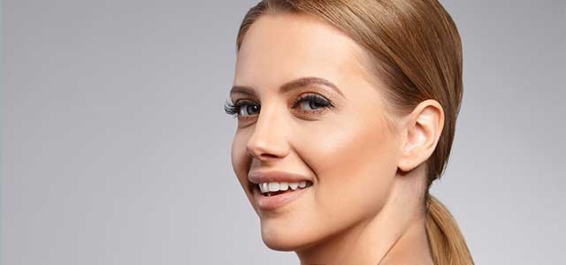 eye care, Blonde woman happy after botox injection in Fort Worth, Southlake, Texas