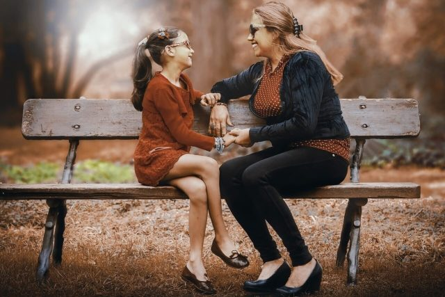 optometrist, Mother looking at daughter after ectropion surgery in Fort Worth, Southlake, Texas