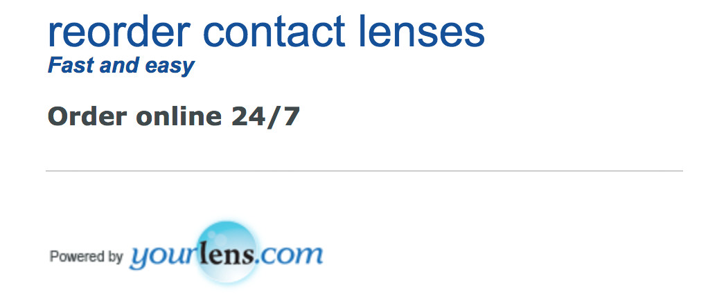 Order contact lenses from YourLens.