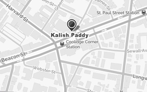 Paddy Kalish Location Map
