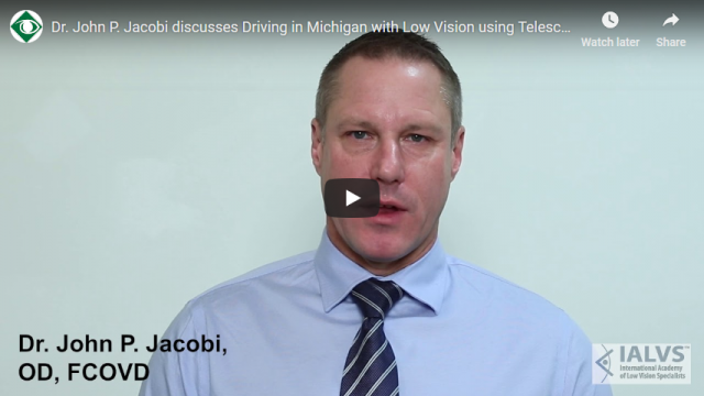 Screenshot 2019 03 22 Dr John P Jacobi discusses Driving in Michigan with Low Vision using Telescopic Glasses YouTube