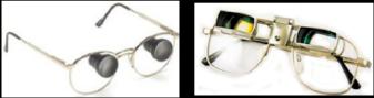 galilean fixed focus bioptic telescope glasses