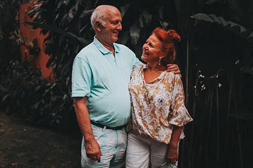 happy old couple