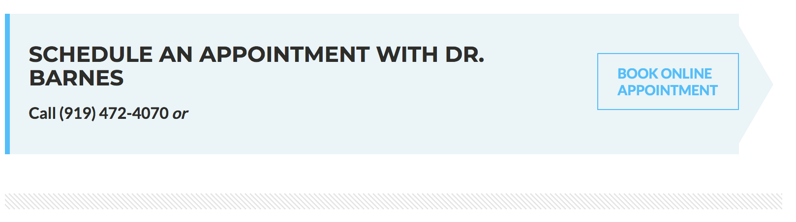 online appointment arrow