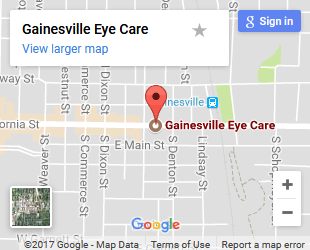 Gainesville Eye Care Map