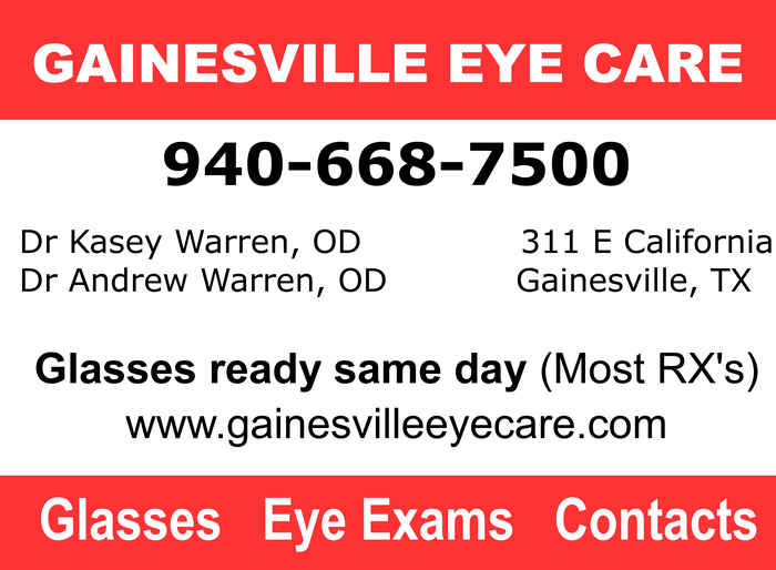 gainesville eye care ad jpeg glasses same day 16 OZ cup