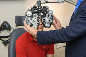 child having an eye exam in Plano TX