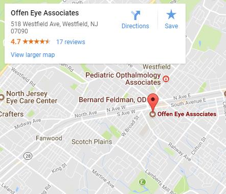 Offen Eye Associates googleo map