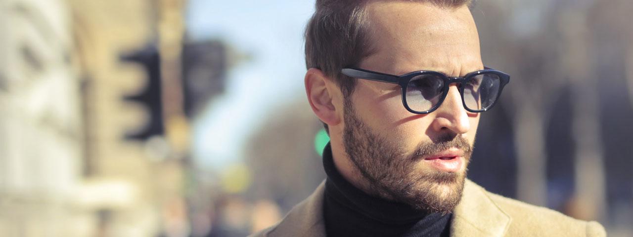 Eye doctor, man wearing designer eyeglasses in Long Grove, IL