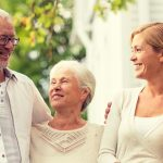 eye doctor, grandparents with family after testing for keratoconus in Long Grove, Illinois