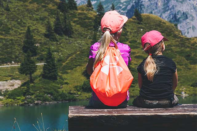 optometrist, Sisters, resting on a hike, wearing contacts in Long Grove, Illinois