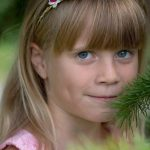 eye care, Girl Wearing Soft Multifocal Contact Lenses in Long Grove, Illinois
