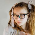 optometrist, girl wearing glasses with myopia in Long Grove, IL