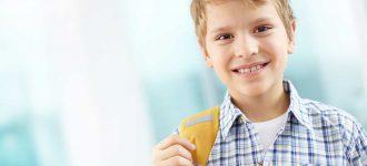 Eye Exam Little boy with ortho-k in Mineola & Middle Village,NY.