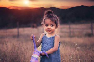 Child Sunset Mountain