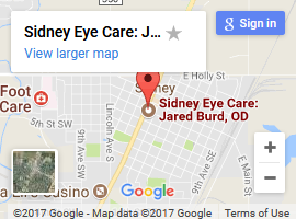 sidney eye care map