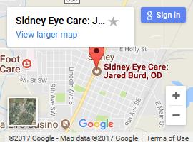 sidney eye care map