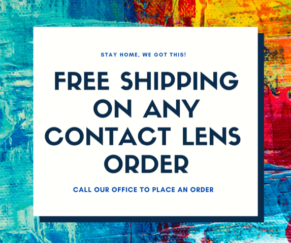 free shipping on any contact lens order