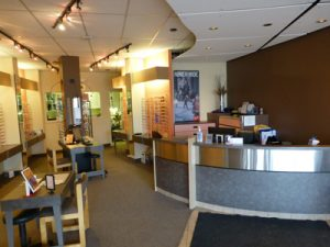 village Eye Centre - Edmonton eye doctor's office front desk