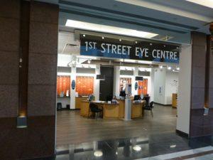 1st Street Eye Centre Edmonton eye doctor office exterior