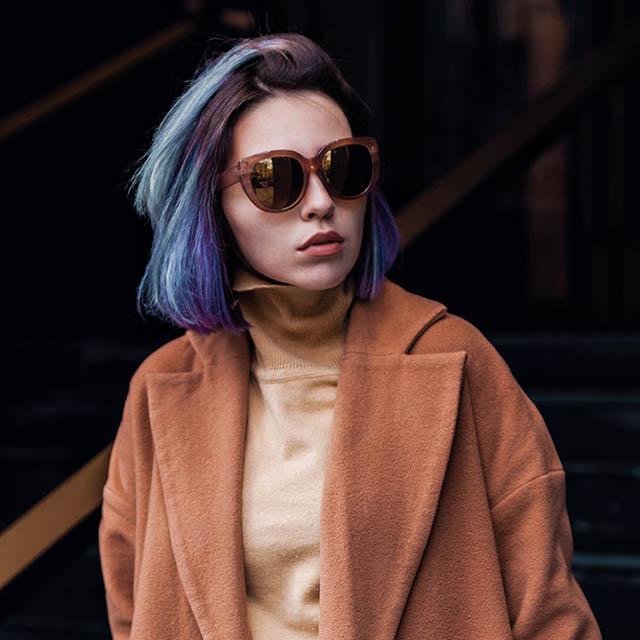 punk purple hair sunglasses 640