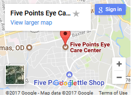 Five Points Eye Care map