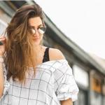 Woman wearing Neubau Eyeglasses, Optometrist in Athens, GA