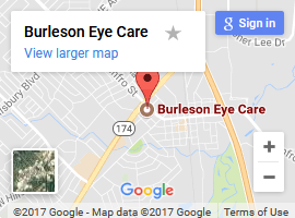 Burleson Eye Care Map