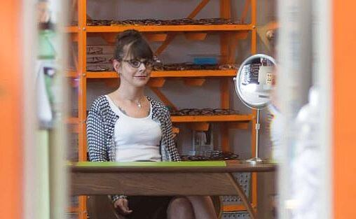 girl wearing stylish glasses