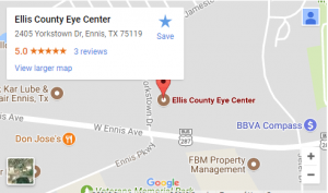ellis county eyecenter map