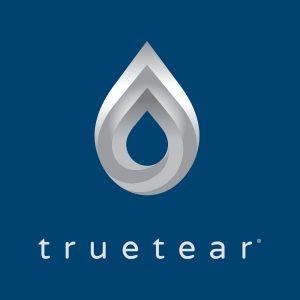 TrueTear Logo Grayscale On Navy
