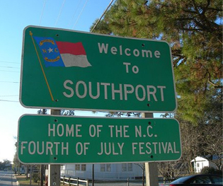 southport welcome sign